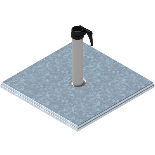 stahlsockel z 40 kg beschwerungsplatte 30 kg standrohr z 48 55 mm edelstahl quante design. Black Bedroom Furniture Sets. Home Design Ideas