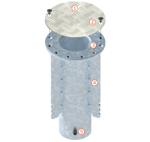 Quante-Design Bodenhülsen P080/P160 Standard