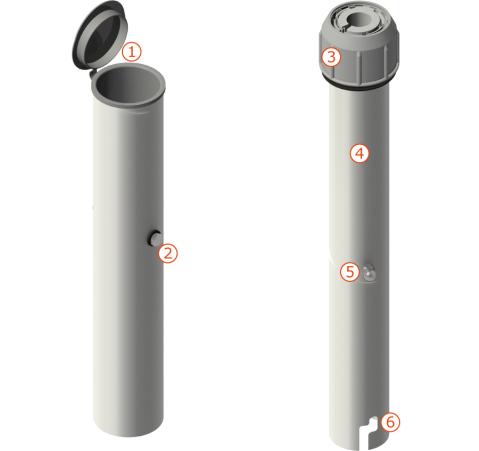 QD Bodenhülse ECO mit Übergangsrohr