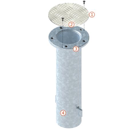 GLATZ Bodenhülsen-Systeme M4, M8 und M16