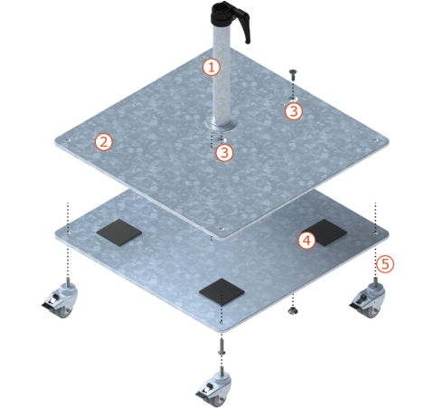 Quante-Design Stahlsockel Z