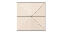 für quadratische 8-teilige Schirme