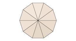 für runde 10-teilige Schirme